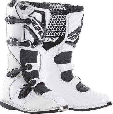 Fly Racing Maverik Dirt Bike Motocross Off Road Motorcycle Boots-See Sizes-White