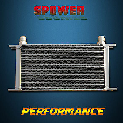 Universal Engine Transmission Oil Cooler 19 Row AN10 Silver Mocal Style