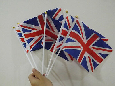 20pcs Union Jack Hand Waving Flag Royal Jubilee UK GB Flags British Street Party