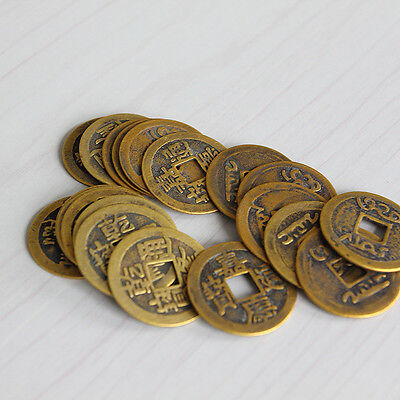 "10pcs Feng Shui Coins 1.00"" 2.3cm Lucky Chinese Fortune Coin I Ching Set SE"
