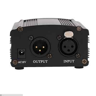 New 48V Phantom Power Supply with Adapter for Condenser Microphone US plug
