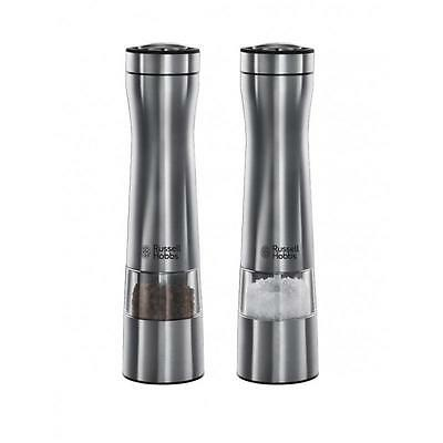Russell Hobbs 22810-56 Brushed Stainless Steel Salt And Pepper Grinders - New
