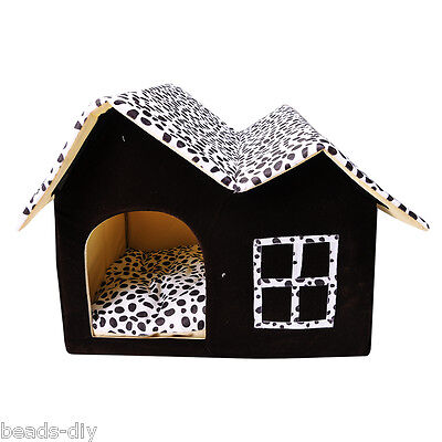 BD Dog Cat House Soft Mat Snug Puppy Pet Bed Luxury Puppy Cave Home Cushion Pad