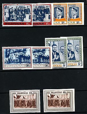 PHILIPPINES 1965 Kennedy Commemoration Set - Unissued Perf & Imperf MNH