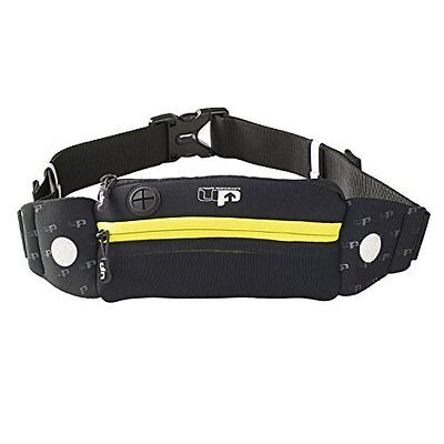 Ultimate Performance Titan Runners Waist Pack Black/Yellow One Size Classic Two