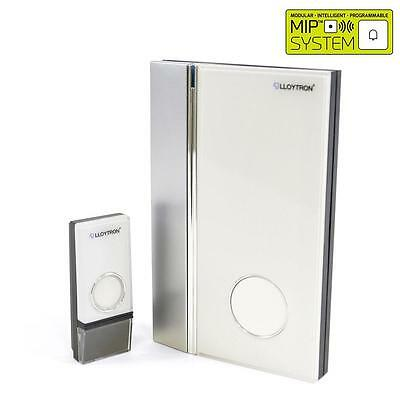Lloytron B7016 Portable Wireless Door Chime White 32 Melodies Battery Operated