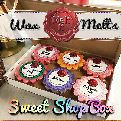 6 Highly Scented Wax Melts | Wax Tarts for oil burner | Sweet Shop Selection