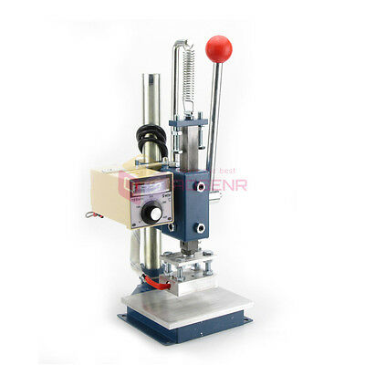 NEW Hot Foil Stamping Leather Printing Embossing Manual Marking Machine 10*8CM