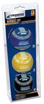 CHAMPRO SPORTS Weighted Training Baseballs, Advanced 10oz, 11oz, 12oz CBB7AS