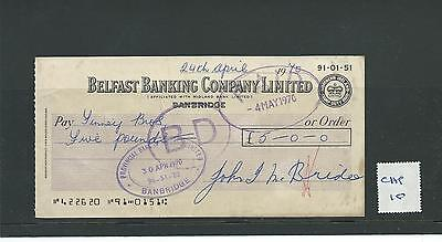 wbc. - CHEQUE FORM - USED - 1970's -CHQ10-  BELFAST BANKING CO LTD - BANBRIDGE