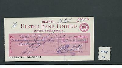 wbc. - CHEQUE FORM - USED - 1960's -CHQ11-  ULSTER BANK - UNIVERSITY, BELFAST