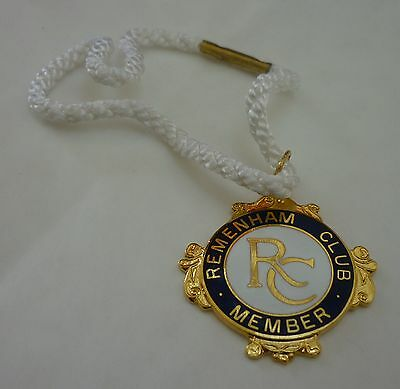 Remenham Rowing Club 1998 Member Badge with Cord