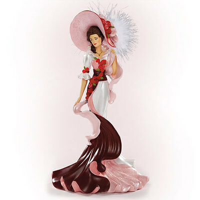 Elegant Perfection Roses in Bloom Lady Figurine Bradford Exchange