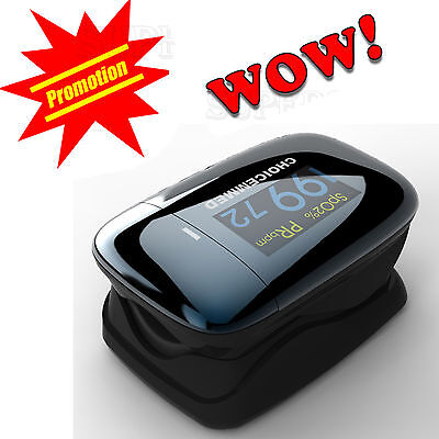 ChoiceMMed Finger Pulse Oximeter Blood Oxygen SpO2 Saturation Oximetro Monitor