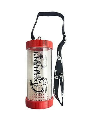 Carlyd Fishing Genie Jar Cipher Minnow Jar With Lanyard 17 Oz. Red Geniejar