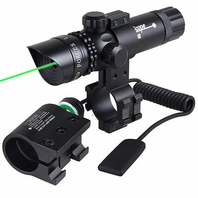 Tactical Hunting Rifle Green Laser Sight Dot  Scope Adjustable Dovetail Mount