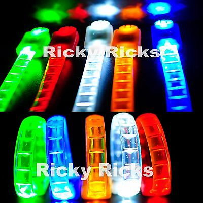 12 PCS Thick Light Up Bracelets LED Rave Glow In The Dark Party Flashing Neon