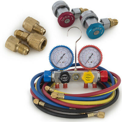 AC Manifold Gauge 5FT Hose Color Air Conditioner Refrigerant R410 R22 R134 R407C