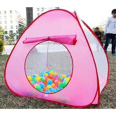 Foldable Kids Polka-Dots Big Toy House Pop Up Play Tent Ball Pit Play Game Pool