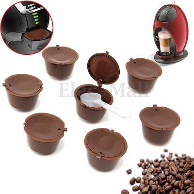 7 Refillable Coffee Capsules For Dolce Gusto Reusable Brewers Refill Cup Filter