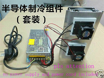 New Thermoelectric Peltier Refrigeration Cooling System Kit Cooler fan DIY
