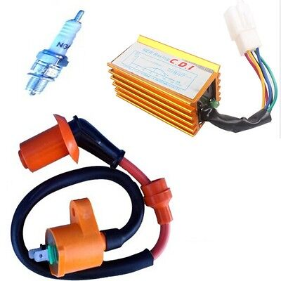 Ignition Coil 5 Pin CDI A7TC Spark Plug For Chinese ATV Quad Pit Dirt Bike CRF50