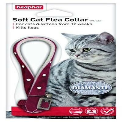 Beaphar Cat Flea Collar Diamante Black Or Red Pet Supplies Real Diamante Crysta