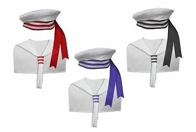 Adults Unisex Sailor Kit Fancy Dress Nautical Navy Skipper Costume Accessories