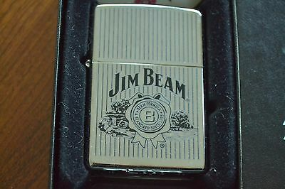 ZIPPO Lighter, 24551 - Jim Beam, High-Polish Chrome, 2008, Sealed, M1191
