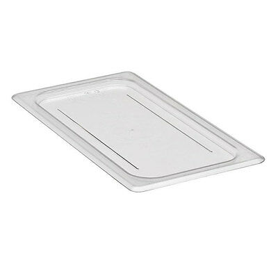 Lot of 6 Cambro 30CWC135 Camwear Food Pan Flat Cover Lid 1/3 Size Clear Polycarb