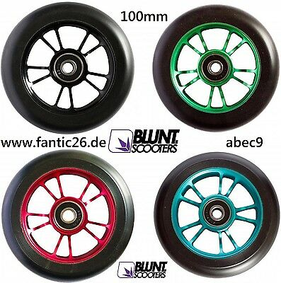 Blunt Spoked Stunt-Scooter 100mm 88A Wheel Abec9 Lager trottinette Rolle