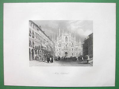 ITALY Milan Cathedral - Antique Print