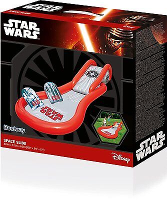 Bestway Bw91201 Superb Quality Star Wars Space Slide And Pool Water Sprayer. New