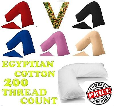 200Tc 100% Egyptian Cotton V Shape Orthopedic Maternity Nursing Pillowcase
