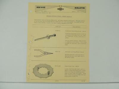 1962 HARLEY-DAVIDSON SPRINT Service Tool Price List Dealer Bulletin L4185