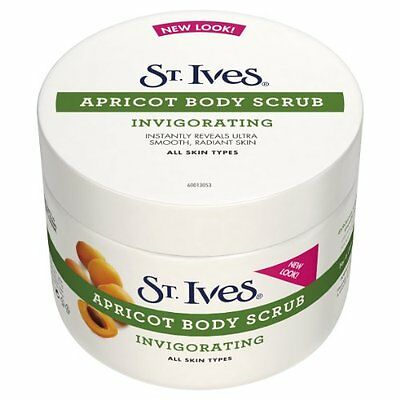 Pack Of 2 St. Ives Invigorating Apricot Body Scrub 300Ml Health & Beauty New