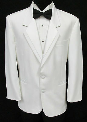 White Oscar de la Renta Tuxedo Dinner Jacket Halloween Costume James Bond Spy