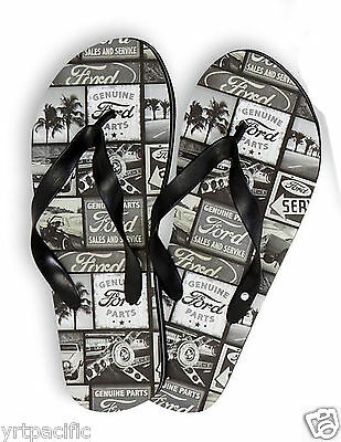 9dfb54cc0b31 Mens Ford Sandals Flip Flop Ford Motors Men s Sizes Beach Sandals 2 Sizes