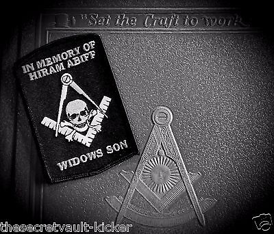 The Original MASONIC BIKER PATCH-HIRAM ABIFF MEMORIAL, WIDOWS SON