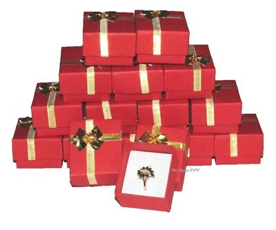 Lot Of 100 Boxes Bow Tie Ring Box Red Gift Box Red Jewelry Box Wholesale Boxes