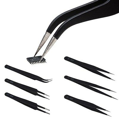 All Purpose Precision Tweezer Set Stainless Steel Anti Static Maintenance Tools