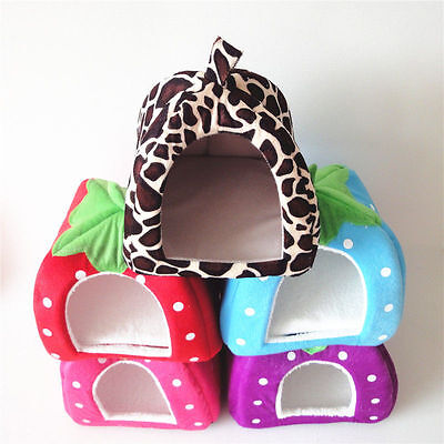 Wholesale Cute Strawberry Pet Dog Kennel Cate House Bed Sofa Size S M L XL XXL
