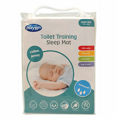 BN Playgro Cotton Jersey Waterproof Toilet Training Sleep Mat Mattress Protector