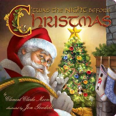 Twas the Night Before Christmas by Clement Clarke Moore Board Book Book (English