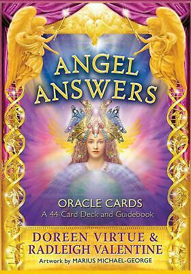 Angel Answers Oracle Cards: A 44-Card Deck and Guidebook by Doreen Virtue (Engli