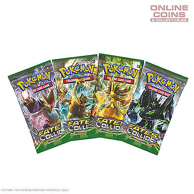 POKEMON TCG - Fates Collide 4 x10 Card Booster Packs 40 CARDS IN TOTAL