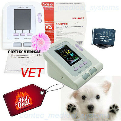 FDA Vet Veterinary OLED digital Blood Pressure&Heart Beat Monitor NIBP CONTEC08A