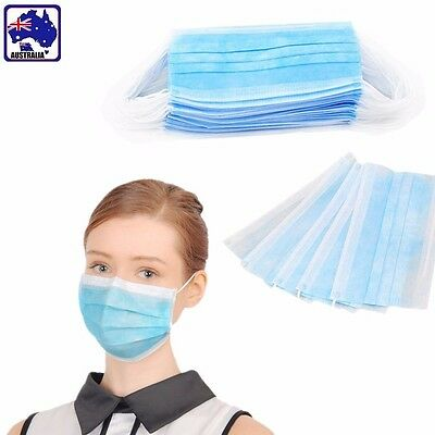 50pcs Disposable Medical Mouth Face Mask Anti-Dust Mouth Cover SGMAS1359x50
