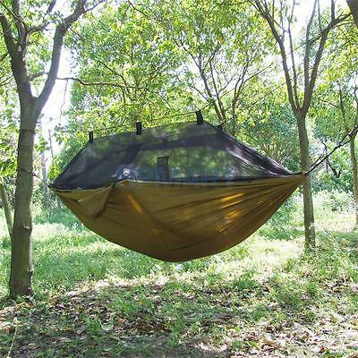 Double Person Travel Outdoor Camping Tent Hanging Hammock Bed & Mosquito Net