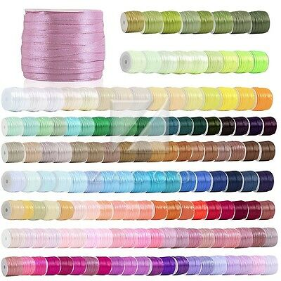 "50 Yards Satin Ribbon 1/8"" Craft Wedding Party Decorations RN0001"